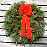 mixed greens wreath
